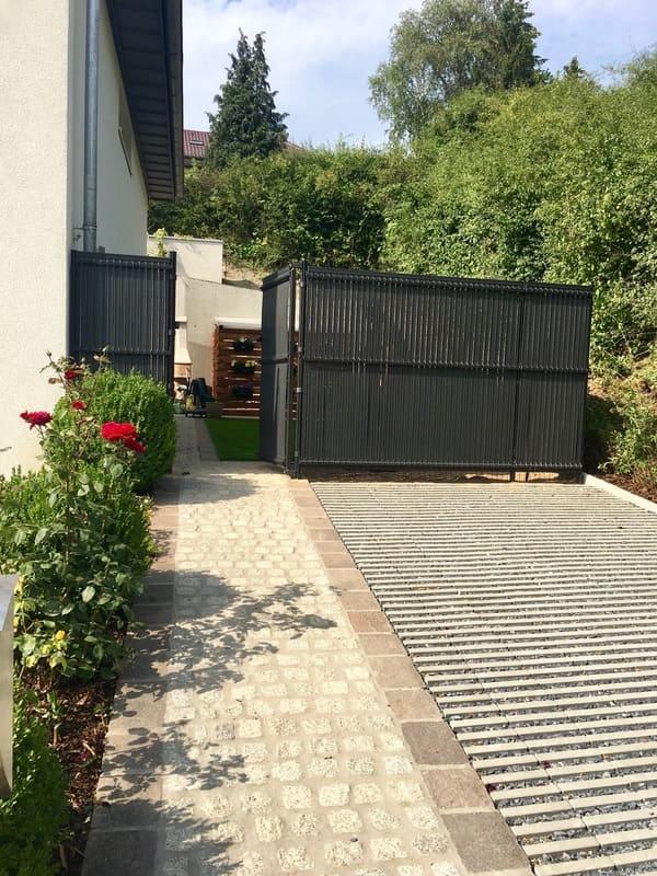 Aménagement extérieur Luxembourg construction métallique 8