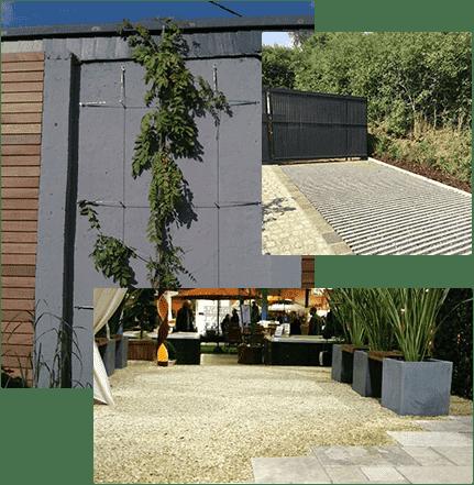 Jardinier au Luxembourg construction métallique