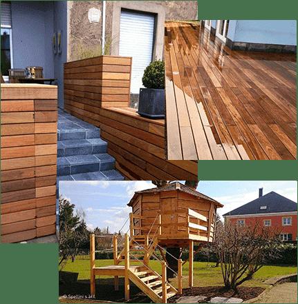 Jardinier Luxembourg construction en bois