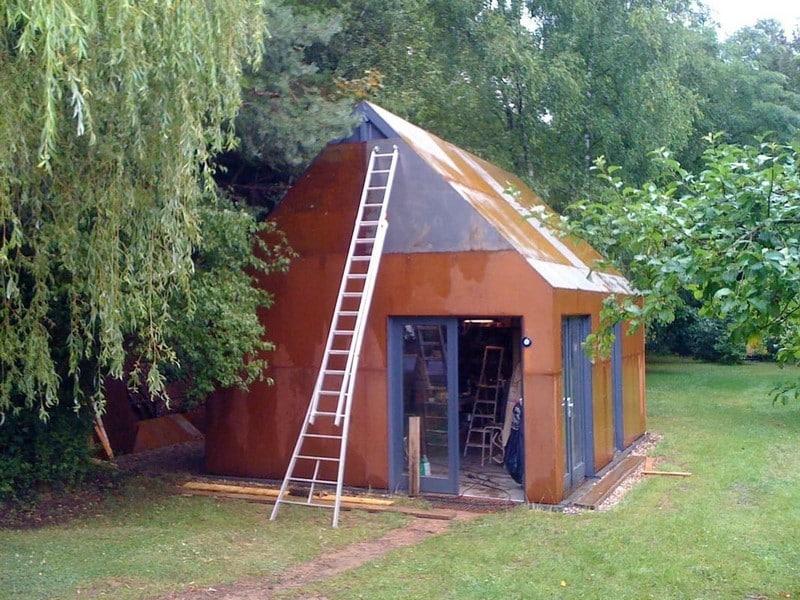 Jardinier paysagiste Luxembourg construction métallique 4