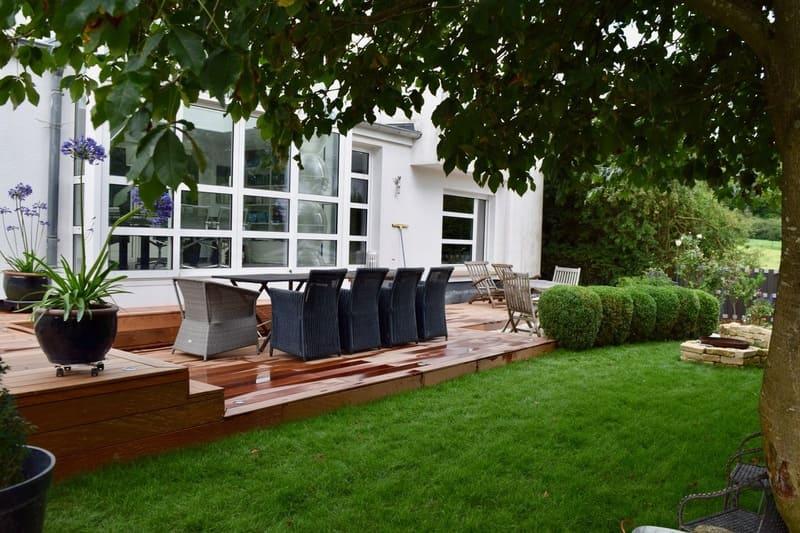 Engazonnement jardin et aménagement terrasse Luxembourg
