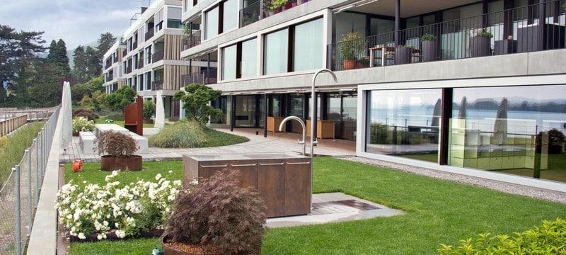 Aménagement extérieur Luxembourg toiture végétale 6