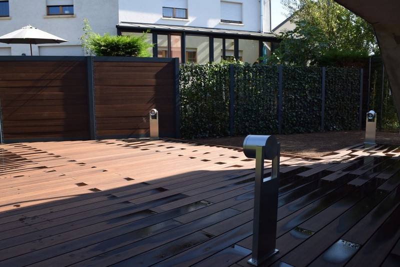 Jardinier au Luxembourg construction abri de jardin en bois 17