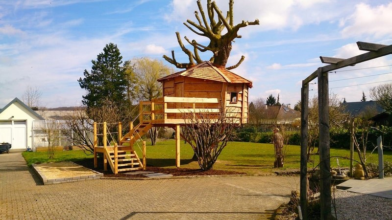 Jardinier au Luxembourg construction abri de jardin en bois 32