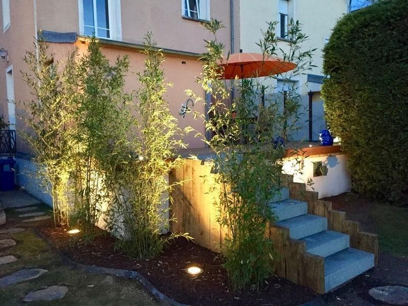 Jardinier paysagiste Luxembourg illumination jardin 17